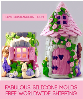 Fairy house molds, fairy house, fairy window, fairy door, fairy silicone molds, 4 moulds for fairy house, Free worldwide shipping